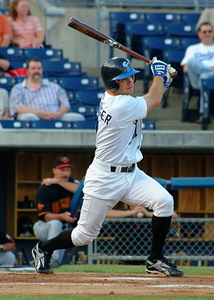 Jeff Keppinger hitting for the Norfolk Tides