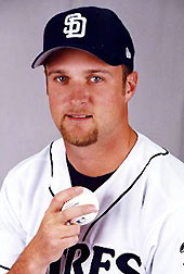 Photo of Brian Lawrence as a San Diego Padre