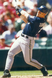 Geoff Jenkins is swinging a hot bat for the Milwaukee Brewers