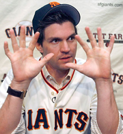 Barry Zito responds after being asked how many runs the Mets will score