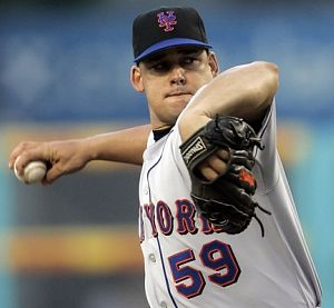 Alay Soler pitching for the New York Mets