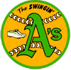 Old Oakland Athletics baseball logo