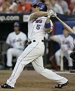 David Wright hits for the New York Mets