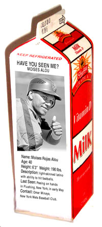 Moises Alou on milk carton