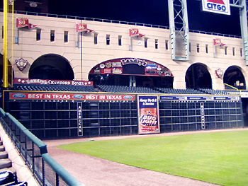 The Crawford boxes in Houston Astros home stadium Minute Maid Park