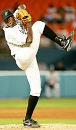 Marlins pitcher Dontrelle Willis