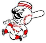 Cincinnati Reds baseball logo from 1960s