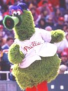 Philadelphia baseball mascot the Phillie Phanatic