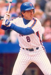 Mets catcher number eight Gary Carter at the bat