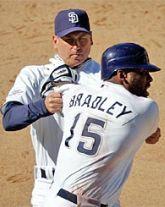Padres manager Bud Black restrains Milton Bradley