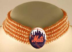 Mets classy pearl choker