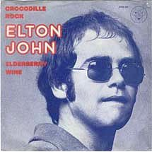 Cover for Elton John single Crocodile Rock