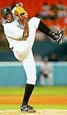 Florida Marlins pitcher Dontrelle