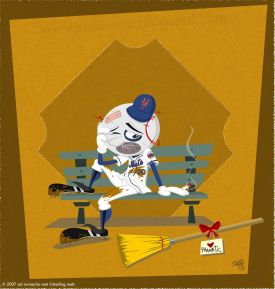 Depressed Mr. Met by Sal Iovine