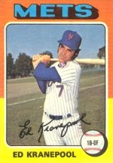 Ed Kranepool New York Mets baseball card