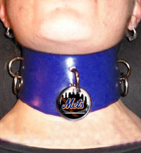 Mets leather choker
