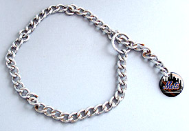 Mets dog choker chain