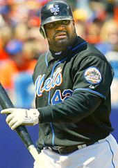 Mo Vaughn with the New York Mets