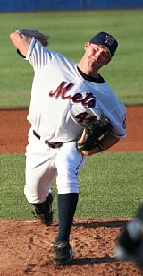Philip Humber pitching for the minor league Mets