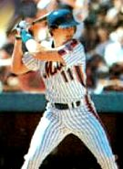 Tim Teufel with the New York Mets