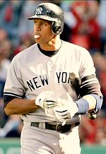 Alex Rodriguez with the New York Yankees