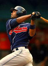 Josh Barfield hitting for the Cleveland Indians