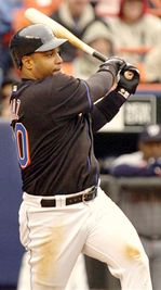 Victor Diaz hitting for the Mets