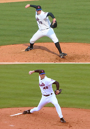 Pitching style of Eddie Kunz compared to Aaron Heilman