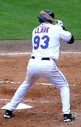 Brady Clark batting for the New York Mets