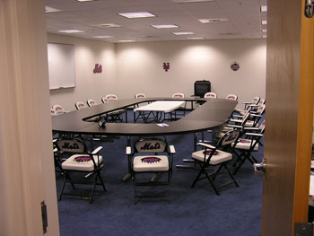 Mets coaches conference room in Port St. Lucie