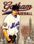 Johan Santana alternative Gotham Baseball cover