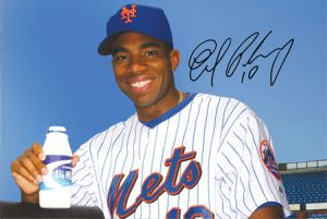 Endy Chavez posing for the dairy association