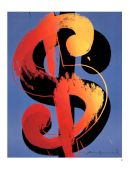 Dollar sign painting by Andy Warhol