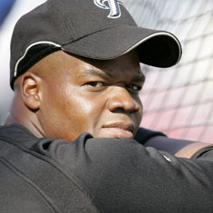 Frank Thomas with the Blue Jays