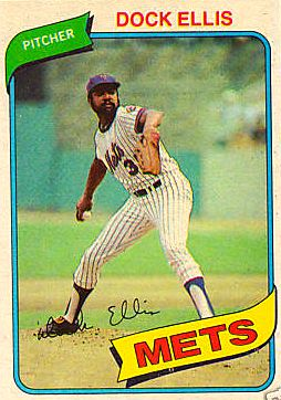 Dock Ellis pitching for the Mets