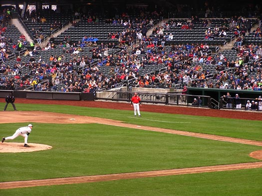 citi field first base line