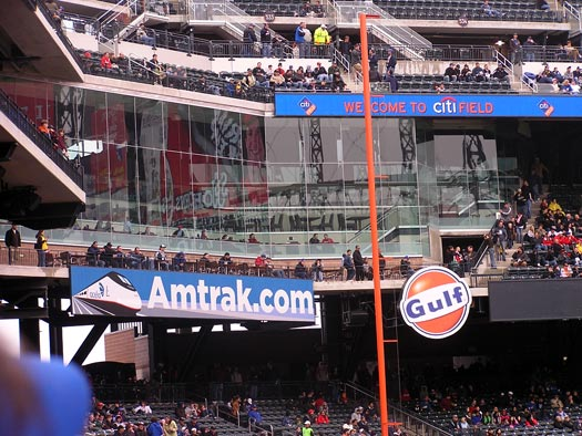 citi field left field foul pole