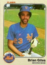 Brian Giles, second baseman for the New York Mets in 1983