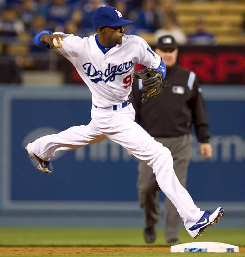 Dee Gordon of the Los Angeles Dodgers