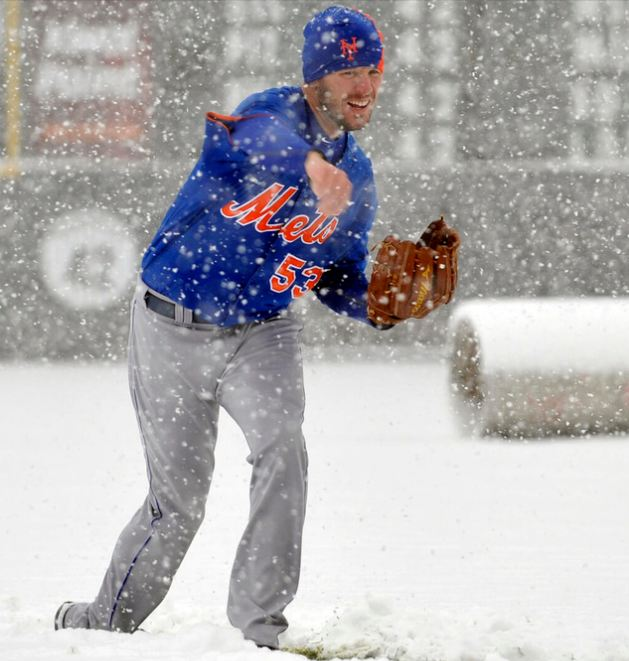 Jeremy Hefner works on his new pitch: The Snowball.