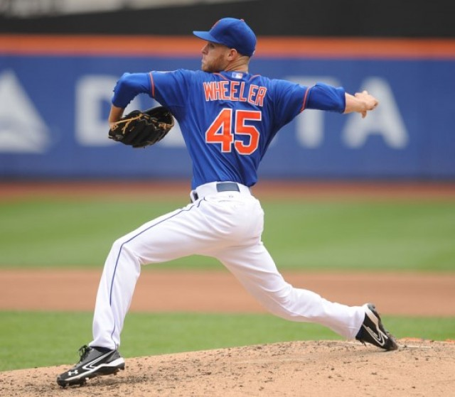 Zack Wheeler pitching. Image Credit: Bill Menzel