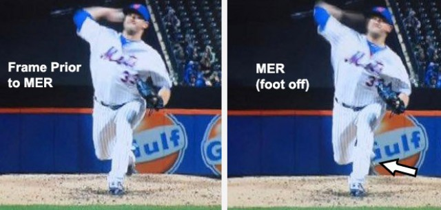 Mets pitcher Matt Harvey pitching motion at max external rotation
