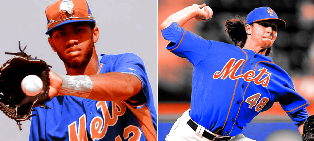 Amed Rosario and Jacob deGrom
